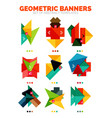 set of bright colorful empty geometric vector image vector image
