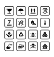 Set of packing symbols icon for box isolated on vector image vector image