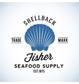 Shellback Fisher Seafood Supply Abstract vector image vector image