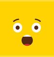 shocked emoji icon design vector image