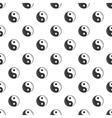 Sign yin yang pattern cartoon style vector image