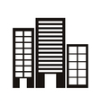 silhouette monochrome with offices buildings vector image vector image