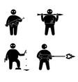 terrorism concept set of terrorist people world vector image