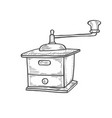 vintage manual coffee grinder vector image