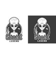vintage space monochrome logotype vector image vector image