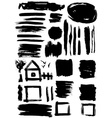 grunge set of paint stains grungy decoration vector image