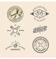 set vintage school labels vector image