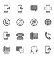 Icon set - communication vector image