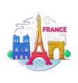 france - modern line travel vector image