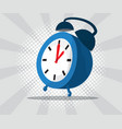 abstract alarm clock with burst and halftone vector image vector image