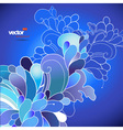 Abstract flowers on blue background vector image vector image