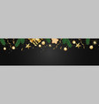 banner with christmas balls and stars great for vector image vector image