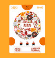 bbq party announcement banner vector image vector image