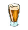 beer glass mug or bottle for oktoberfest vector image vector image