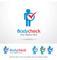 body check logo template vector image vector image