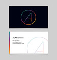 business-card-letter-a vector image vector image