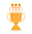 businessmen icons on top of a golden trophy vector image