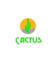 cactus on prairie vector image vector image