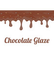 chocolate doughnut glaze vector image