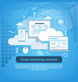 cloud computing services template web banner vector image