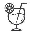cocktail line icon food and drink alcohol sign vector image vector image