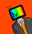 Creative television face vector image vector image