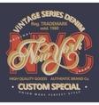 Denim typography t-shirt graphics vector image vector image
