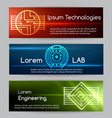 digital engineering banner set computer vector image vector image