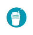 drinks cold refresh plastic cup with straw blue vector image vector image