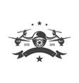 drone emblem vector image