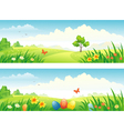 Easter and spring banners vector image vector image