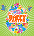 Easter Symbol Egg and Spring flower 5 vector image vector image