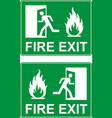 emergency fire exit door vector image