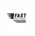 fast delivery design in black color vector image vector image