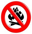 fire danger sign vector image vector image