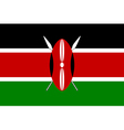 Flag of Kenya vector image