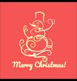funny snowman christmas card vector image