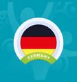 germany flag european football 2020 tournament vector image vector image