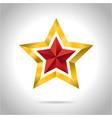 gold red star 3d art symbol