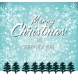 greeting christmas and new year with pines vector image
