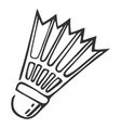 Hand drawn nylon shuttlecock vector image vector image