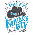 happy fathers day hand-lettering card vector image vector image