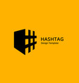 hashtag symbol shield logo icon design template vector image