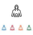 hoodie icon vector image vector image