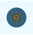 Icon with colored ship wheel vector image vector image