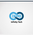 infinity tech logo icon element and template for vector image