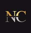 initial monogram letter nc logo design template vector image vector image