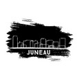 juneau skyline silhouette hand drawn sketch vector image