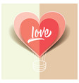 love card origami for wedding for valentine vector image