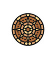 mayan calendar mexican ethnic ornament flat color vector image